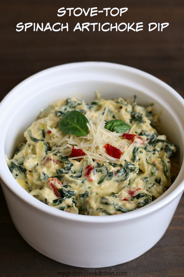 Stove-Top Spinach Artichoke Dip Recipe - Yummy appetizer that is gluten-free!