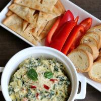 Easy Gluten-free Spinach Artichoke Dip