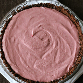 Chocolate Raspberry Mousse Pie {Gluten-free, Dairy-free}