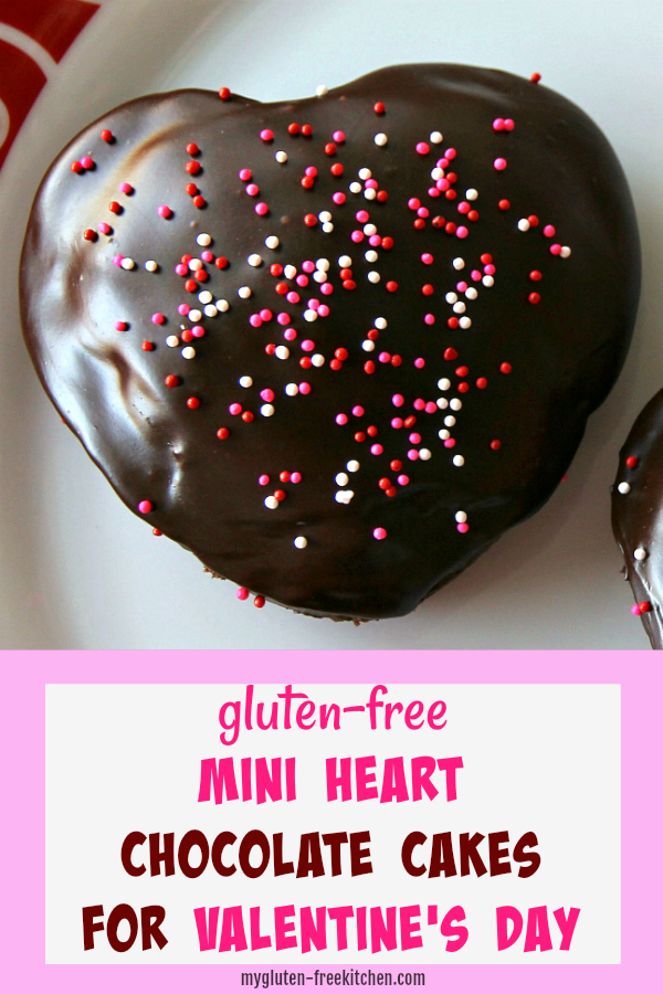 Gluten-free Mini Heart Chocolate Cakes for Valentine's Day