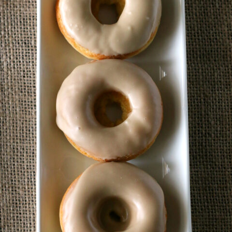 Maple Donuts - Gluten-free and dairy-free. These don't have the texture of baked doughnuts even though they are baked! They taste real!