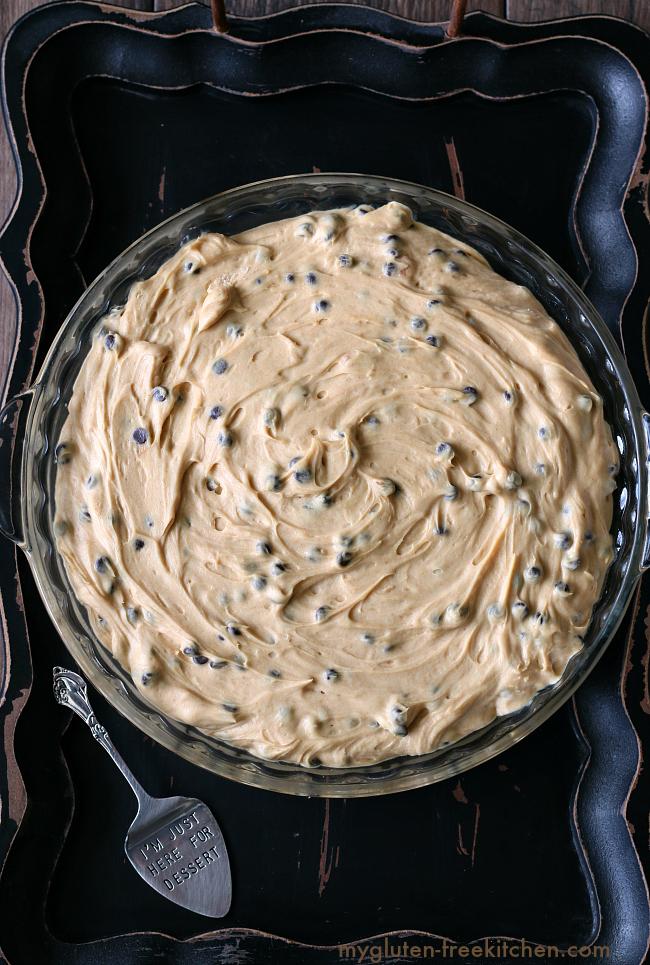 Decadent Gluten-free Peanut Butter Chocolate Chip Pie - The gluten-free chocolate chip crust was so much better than an oreo or graham cracker crust.