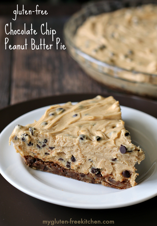 Gluten-free Chocolate Chip Peanut Butter Pie Recipe. Rich and creamy. We all wanted seconds!
