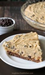 Gluten-free Chocolate Chip Peanut Butter Pie. Easy recipe for an impressive dessert!
