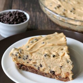 Chocolate Chip Peanut Butter Pie {Gluten-free}