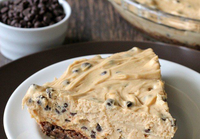 Gluten-free Chocolate Chip Peanut Butter Pie. Easy recipe for an impressive dessert!