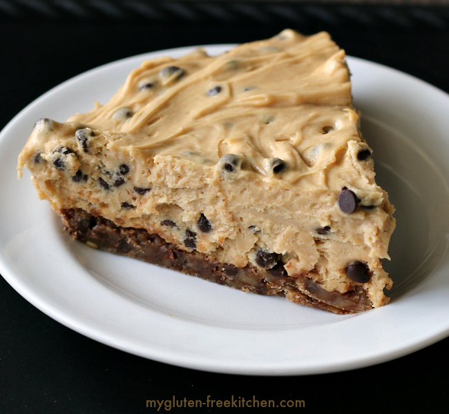 Gluten-free Peanut Butter Chocolate Chip Cookie Crust Pie