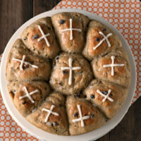 Gluten-free Hot Cross Buns {Dairy-free too}