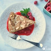 Gluten-Free-Lemon-Almond-Cake-with-mint-and-berries-and-fork GF Jules