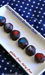 Gluten-free dairy-free Dark Chocolate Brownie Balls