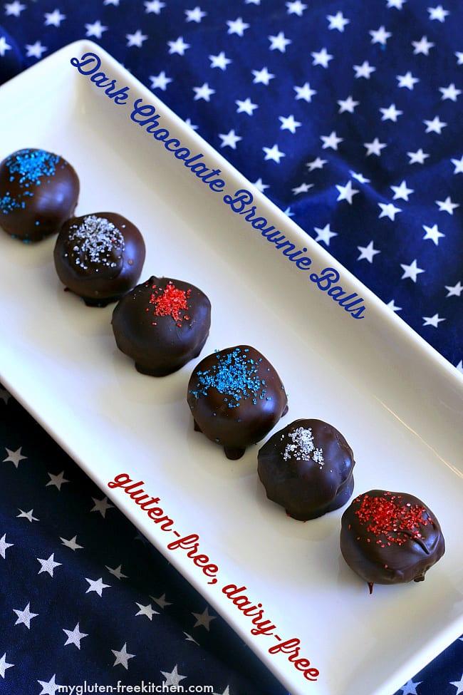 Gluten-free dairy-free Dark Chocolate Brownie Balls