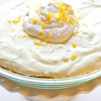 gluten free top 8 free lemon cream pie