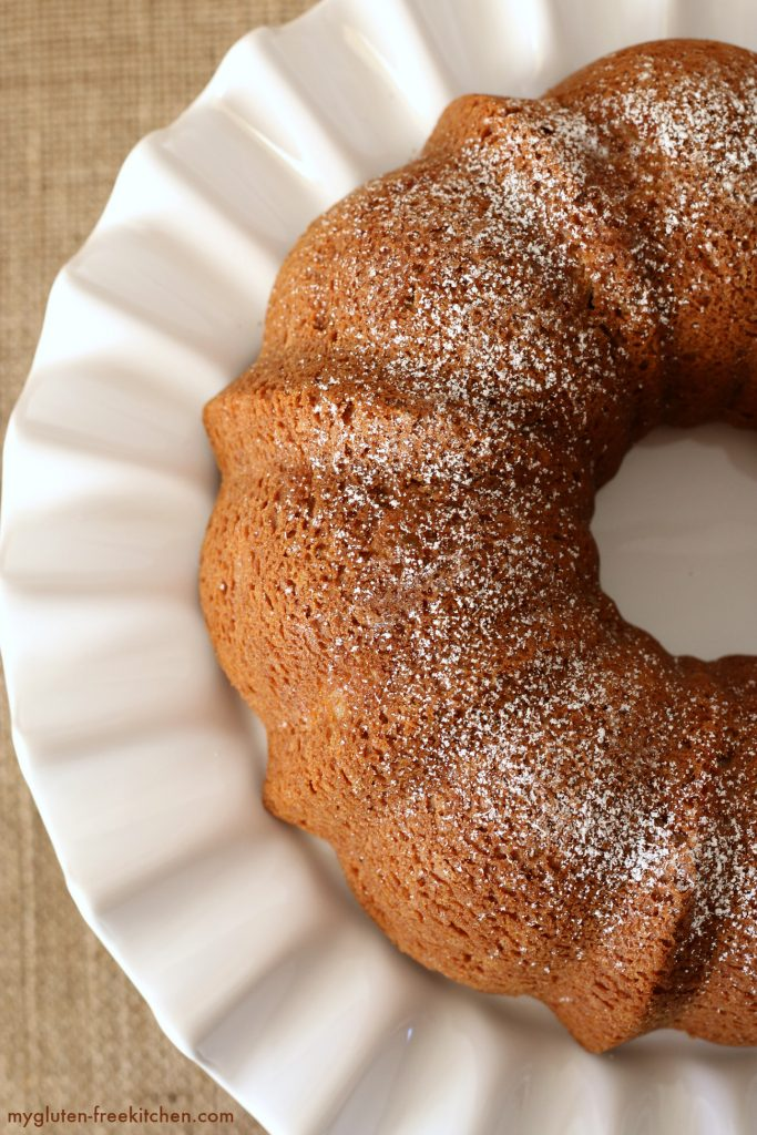 Gluten-free Dairy-free Apple Bundt Cake Recipe. Easy and pretty!