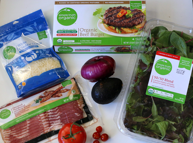 Simple Truth Organic ingredients for Bacon Blue Cheese Burger Salad