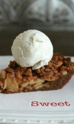 Gluten-free Apple Pie with Snickerdoodle Cookie Streusel. This recipe is a cross between a pie and a crisp and soooo amazing!