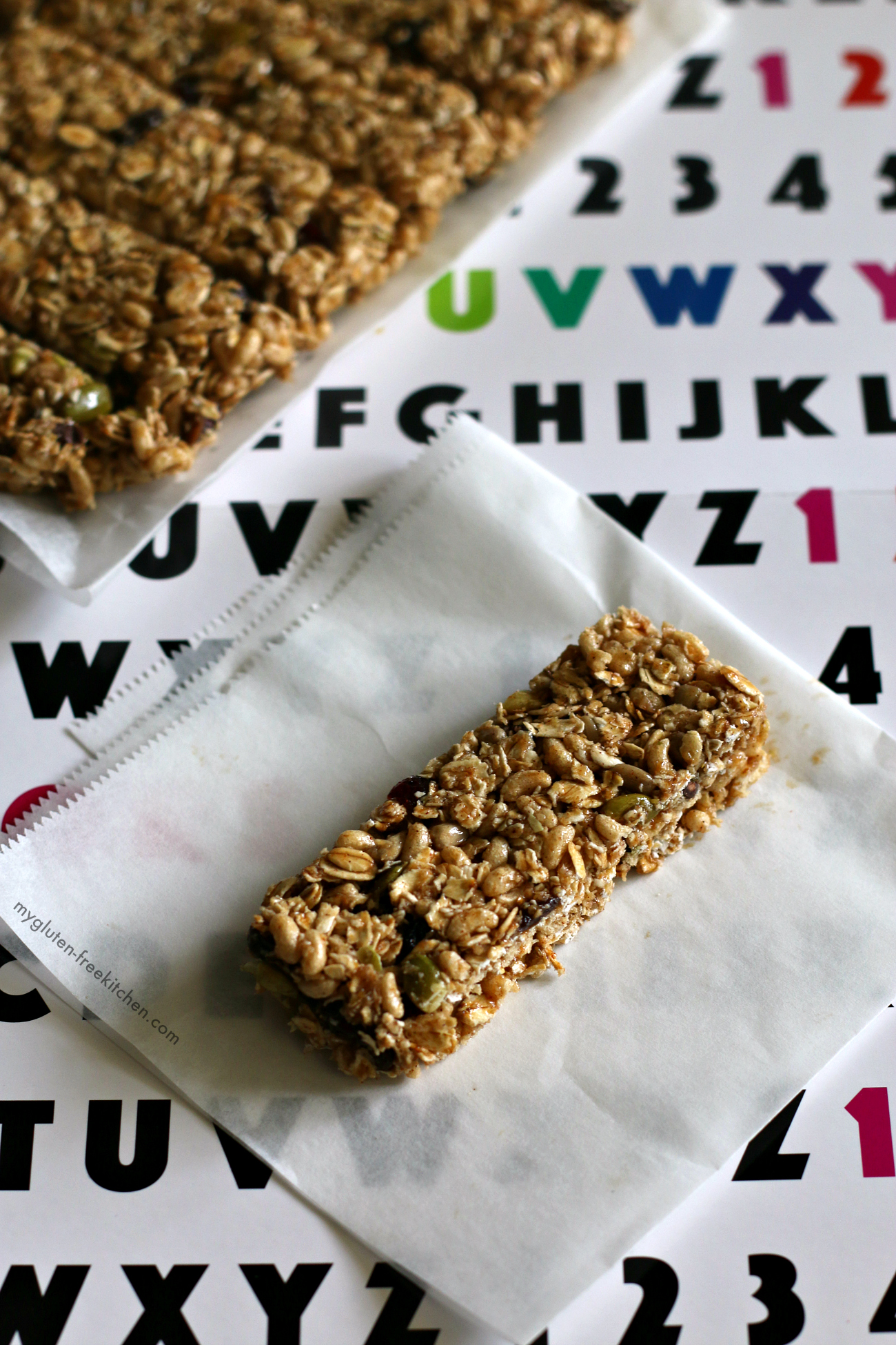 Gluten-free Top 8 Free Granola Bars. Perfect for school lunch or snacks!