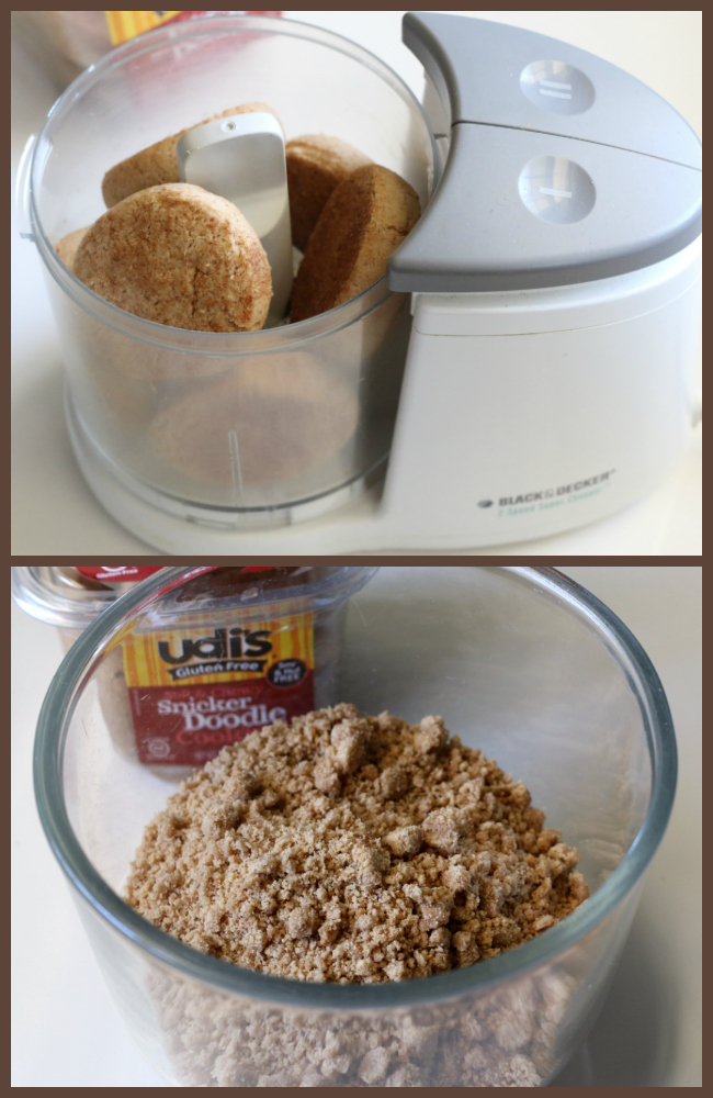 pulsing cookies to make gluten-free Snickerdoodle Streusel