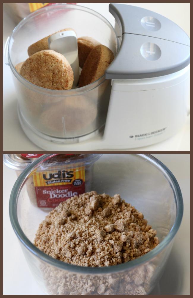 pulsing cookies to make gluten-free Snickerdoodle Streusel