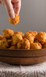 Gluten-free Cheddar Hush Puppies. Perfect gluten-free appetizer recipe!