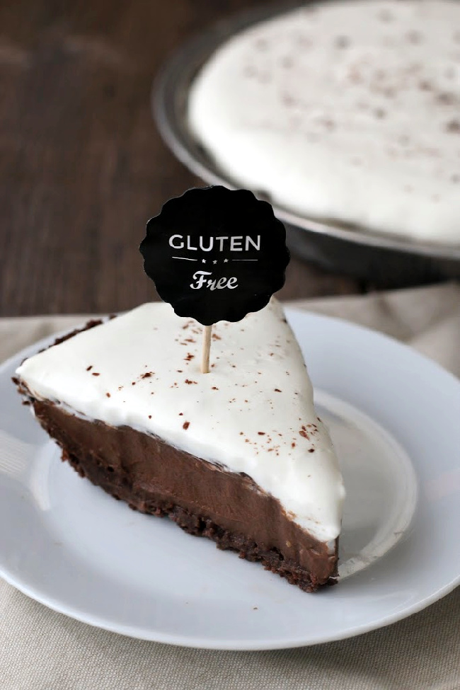 Gluten-free Chocolate Cream Pie with Chocolate Cookie Crust