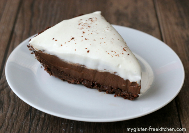 Have a slice of gluten-free chocolate cream pie!