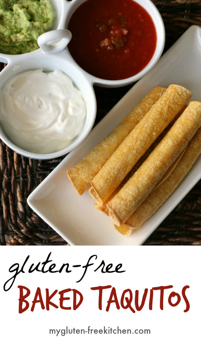 Plate of gluten-free taquitos