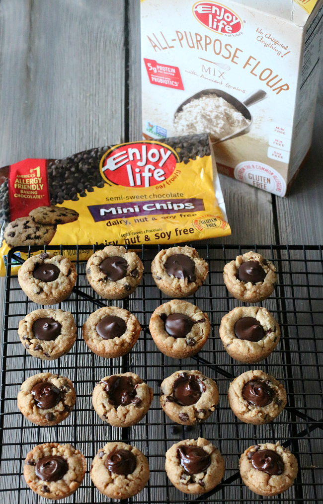 Gluten-free and Dairy-free Peanut Butter Chocolate Chip Cookie Cups recipe