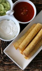 Homemade Gluten-free Baked Taquitos Recipe. Perfect appetizer for parties!