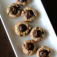 Peanut Butter Chocolate Cookie Cups {Gluten-free, Dairy-free}