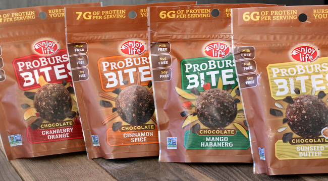 Enjoy Life ProBurst Bites - gluten-free and top 8 free snack