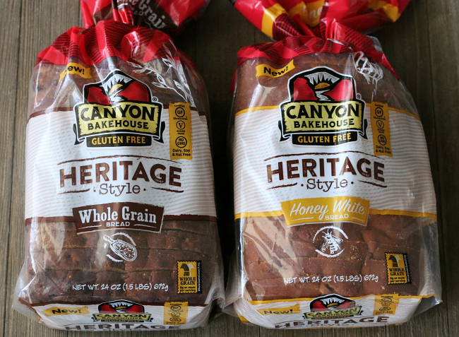 Full size gluten-free bread from Canyon Bakehouse