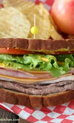 Gluten-free Triple Meat Sandwich