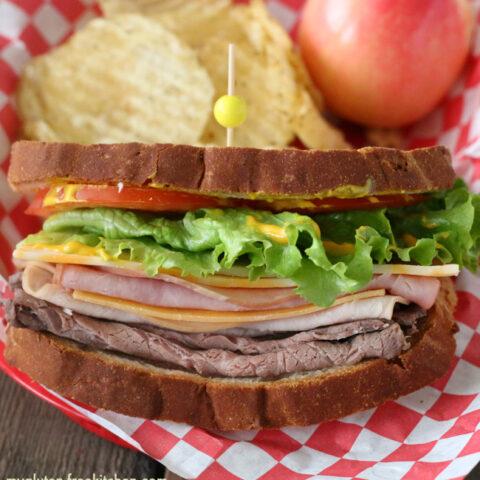 Gluten-free Triple Meat Sandwich