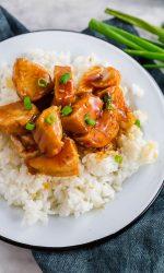 Easy Gluten-free Sweet Chicken served over rice