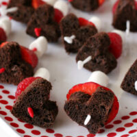 Easy Valentine's Chocolate and Berry Kabobs (gluten-free, dairy-free, nut-free)