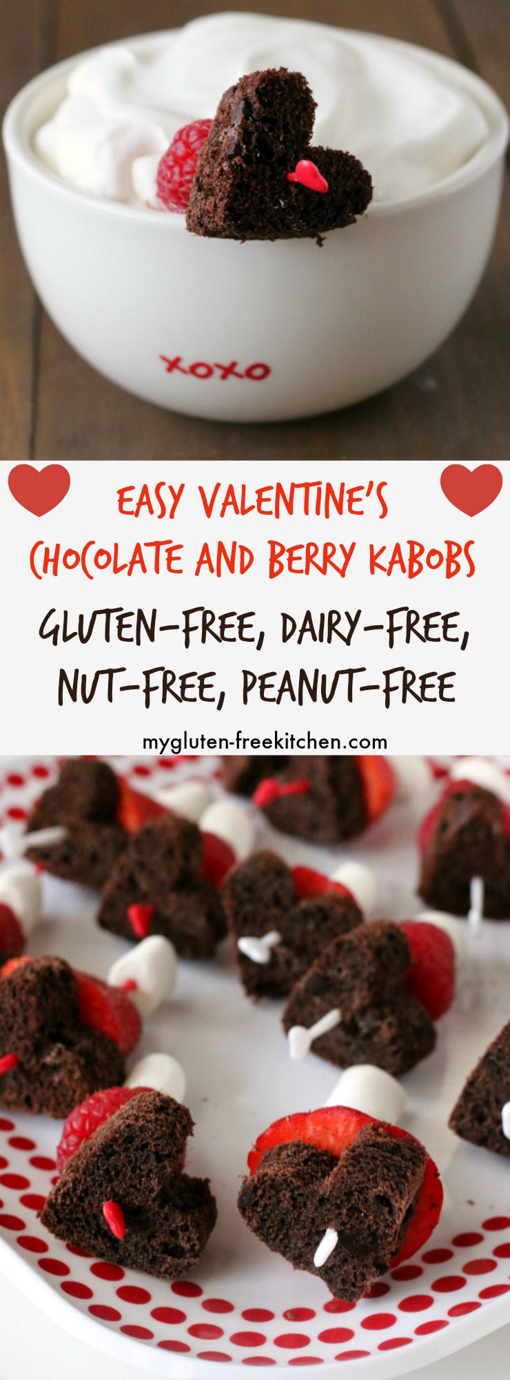 Gluten Free Dairy Free Valentine S Chocolate Berry Kabobs