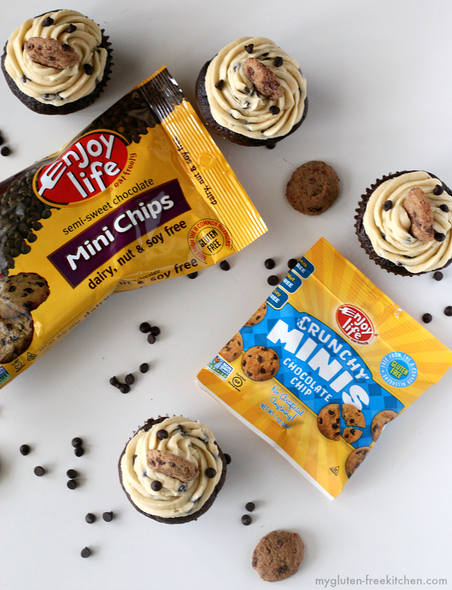 Gluten-free Chocolate Chip Cupcakes with Enjoy Life