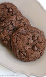 Gluten-free Triple Chocolate Chewy Cookies Recipe