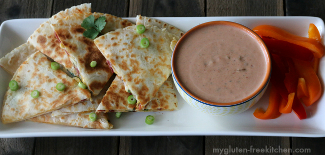 Gluten-free Bacon Ranch Quesadillas make a great appetizer!