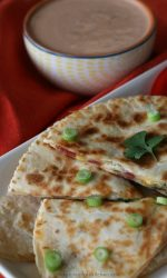 Gluten-free Bacon Ranch Quesadillas. Easy weeknight dinner recipe or gluten-free appetizer!