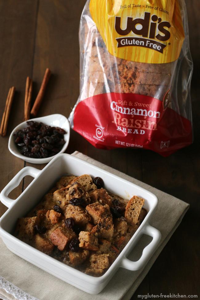Gluten-free Individual Baked Cinnamon Raisin Breakfast Casseroles with Udi's