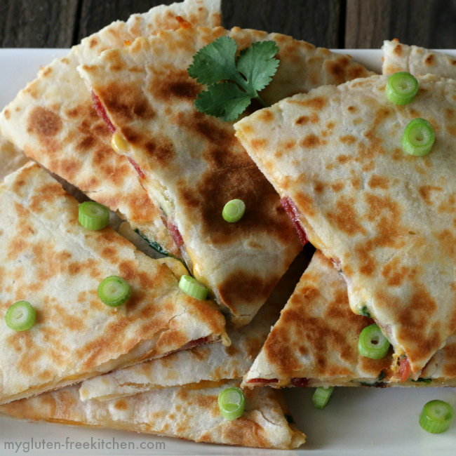 Gluten-free Turkey Bacon Ranch Quesadillas