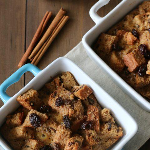 Individual Gluten Free Cinnamon Raisin Baked French Toast Casseroles
