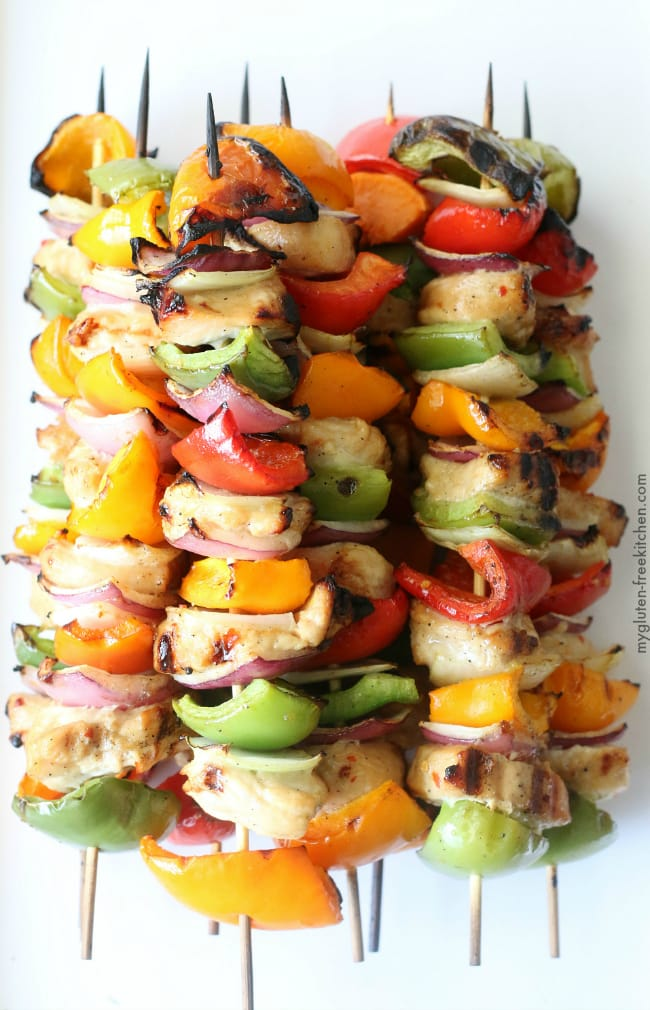 Gluten-free Grilled Hawaiian Kabobs recipe. Healthy and delicious dinner!