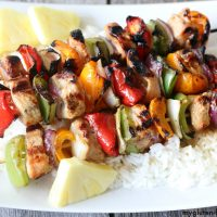 Gluten-free Hawaiian Kabobs with Rice