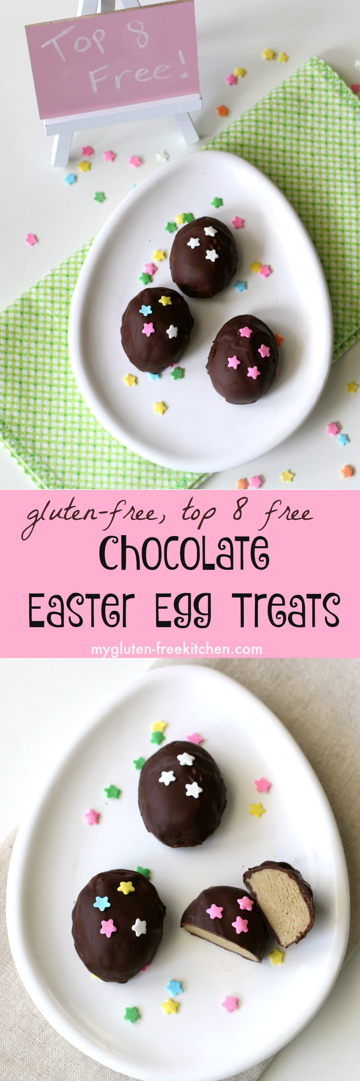 Gluten-free Top 8 free Chocolate Easter Egg Treats recipe. Perfect for class parties or to make with your kids!