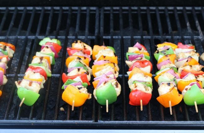 Grilling gluten-free Turkey Kabobs