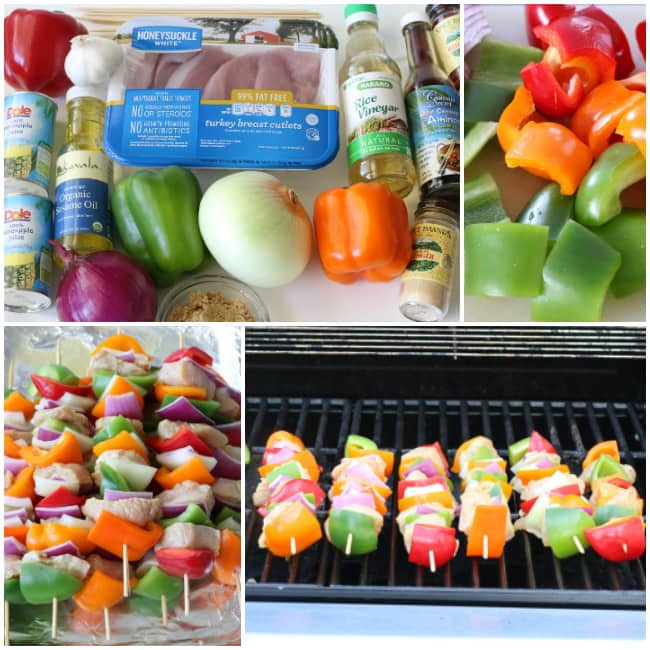 Making gluten-free Hawaiian Turkey Kabobs