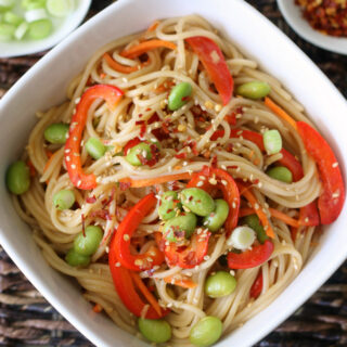 Gluten-free Sesame Noodles with veggies