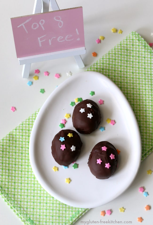 Top 8 free Chocolate Easter Egg Candy. Gluten-free, dairy-free, nut-free and peanut-free with a few delicious swaps! You'll love this allergy friendly Easter candy!